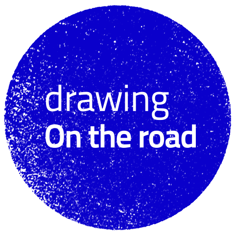 drawing on the road